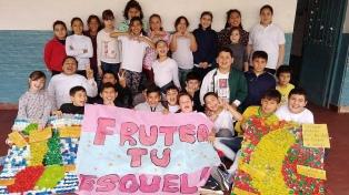 Fruta gratis todo el año para los ganadores de un concurso de estudiantes