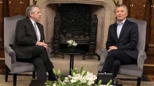 """Fernández, sobre la reunión con Macri: """"Expresamos la voluntad de que todo sea tranquilo"""""""