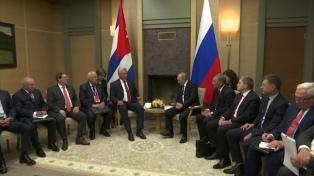 Díaz-Canel le expresó a Putin su deseo de trabajar en nuevos proyectos