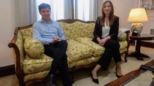 Kicillof sugirió a Vidal que pida a Nación un aporte extraordinario para paliar el déficit