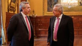 """Alberto Fernández se reunió con López Obrador y dijo que recibió un """"apoyo categórico"""""""