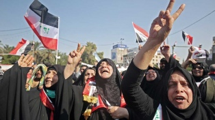Irak se prepara para la gran marcha de mañana contra Estados Unidos y los corruptos