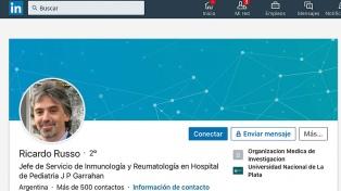 El perfil del pediatra Ricardo Russo aún permanece en redes sociales como si ejerciera la medicina