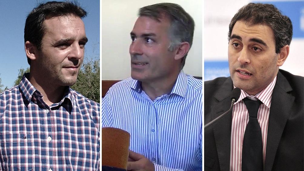Los principales candidatos: Sergio Tamayo, Enrique Picco y Gastón Hissa