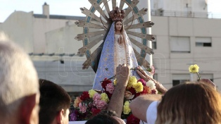 Llegó la imagen de la Virgen de Luján que estuvo en Malvinas