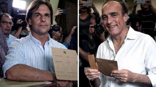 """Lacalle Pou piensa en el día siguiente a la elección y Martínez llama a un """"maracanazo"""""""