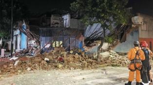 Se derrumbó un supermercado chino en Parque Patricios