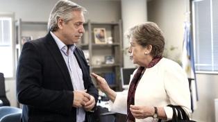 Alberto Fernández y la titular de la Cepal dialogaron sobre la pobreza en Latinoamérica