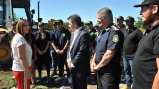 La gobernadora Vidal participó del derribo del búnker de droga número 150