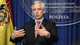 García Linera advierte que sin garantías democráticas no puede haber elecciones