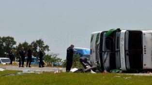 Dieron negativas las pericias toxicológicas al chofer del micro que volcó en la Ruta 2