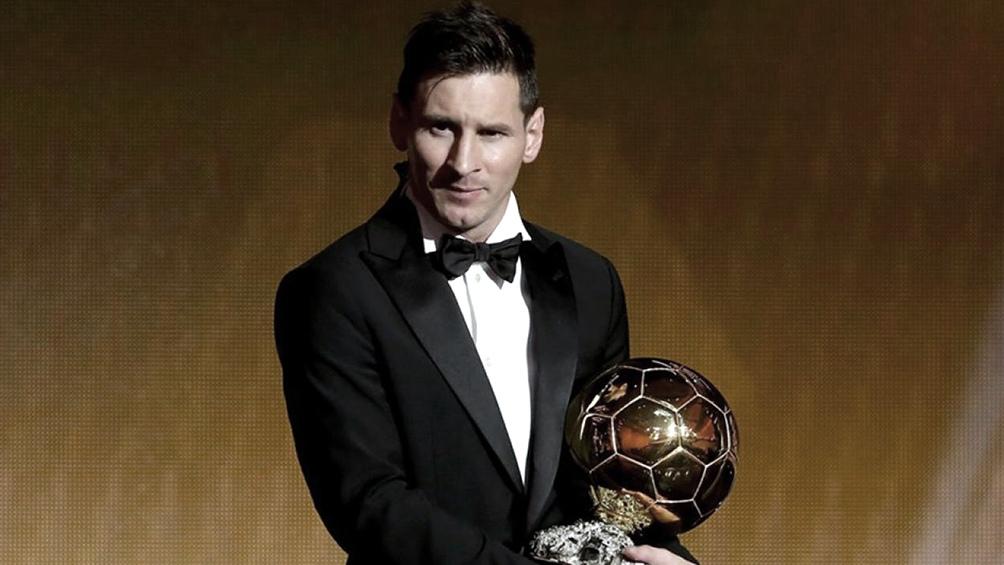 Messi, cuando ganó el quinto balón dorado, en 2015