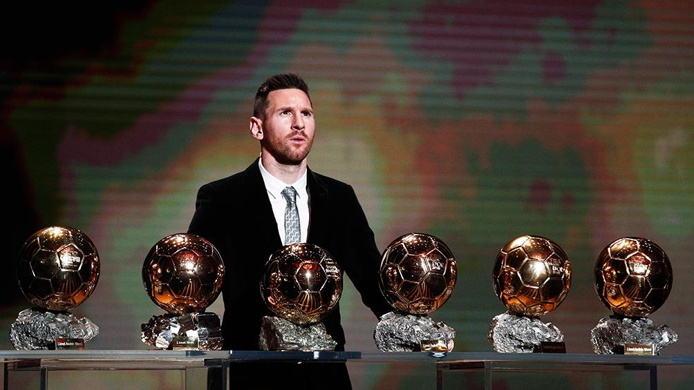 Messi logró un sexto Balón de Oro y se convirtió en caudillo