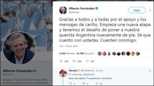 """Antes de asumir, Alberto Fernández celebró el comienzo de """"una nueva etapa"""""""