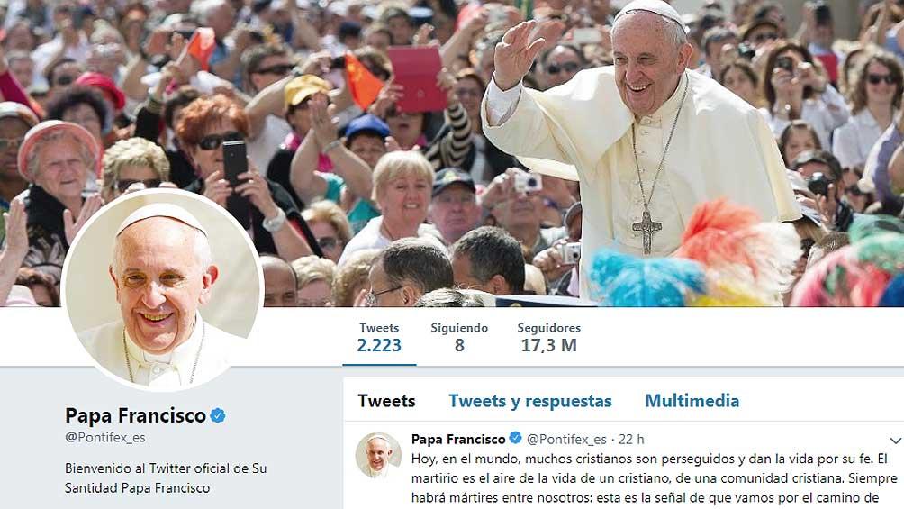 El Papa pasó los 49 millones de seguidores