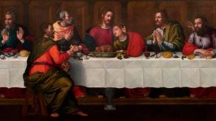 """Rescatan """"Última cena"""", un trascendente cuadro de una pintora del Renacimiento"""