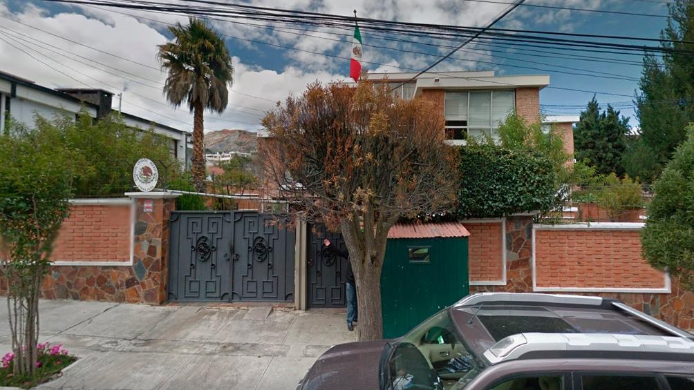 La embajada de México en La Paz
