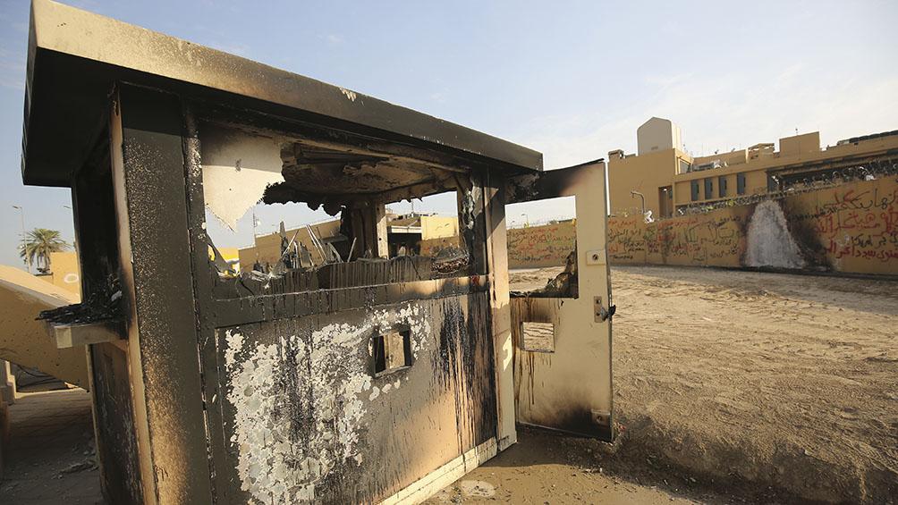 Al menos cinco heridos por ataques en la embajada de Estados Unidos en Bagdad