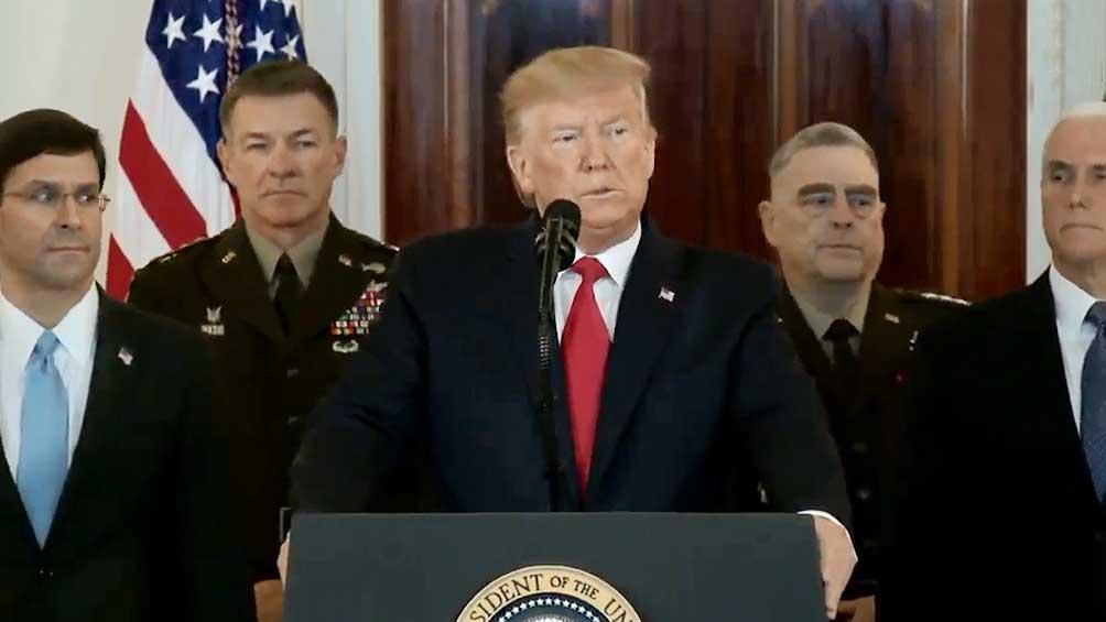 Trump pidió a las potencias que se retiren del pacto nuclear con Irán