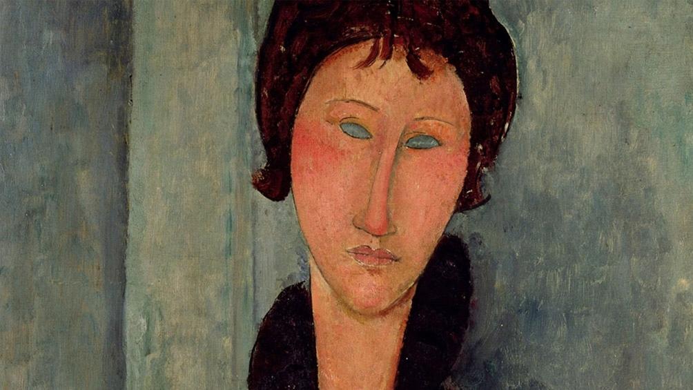 """""""Mujer de ojos azules"""" de Amedeo Modigliani. Óleo sobre tela de 1918."""