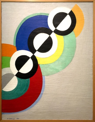 """""""Rythmes"""", de Robert Delaunay. Óleo sobre tela de 1934."""