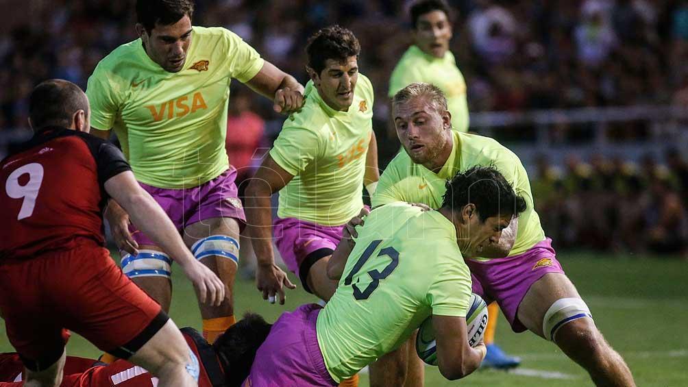 Jaguares ante Georgia XV, antes del Super Rugby