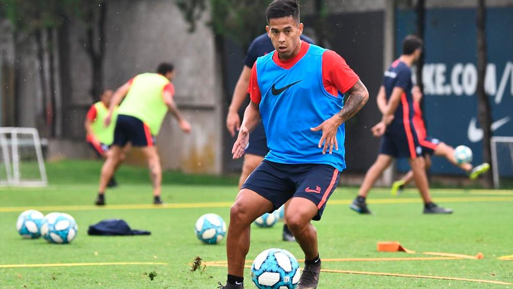 Nicolás Fernández se entrenó por primera vez en San Lorenzo