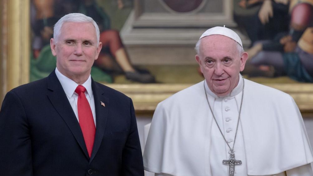 Francisco recibió al vice de EEUU con Medio Oriente y Venezuela en la agenda