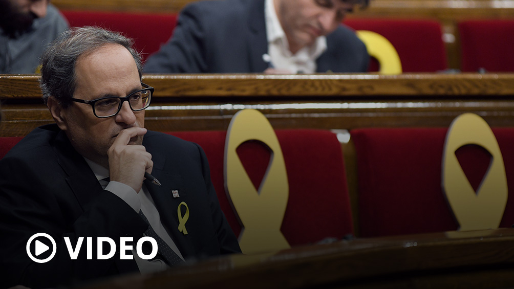 Torra anuncia elecciones anticipadas en Cataluña