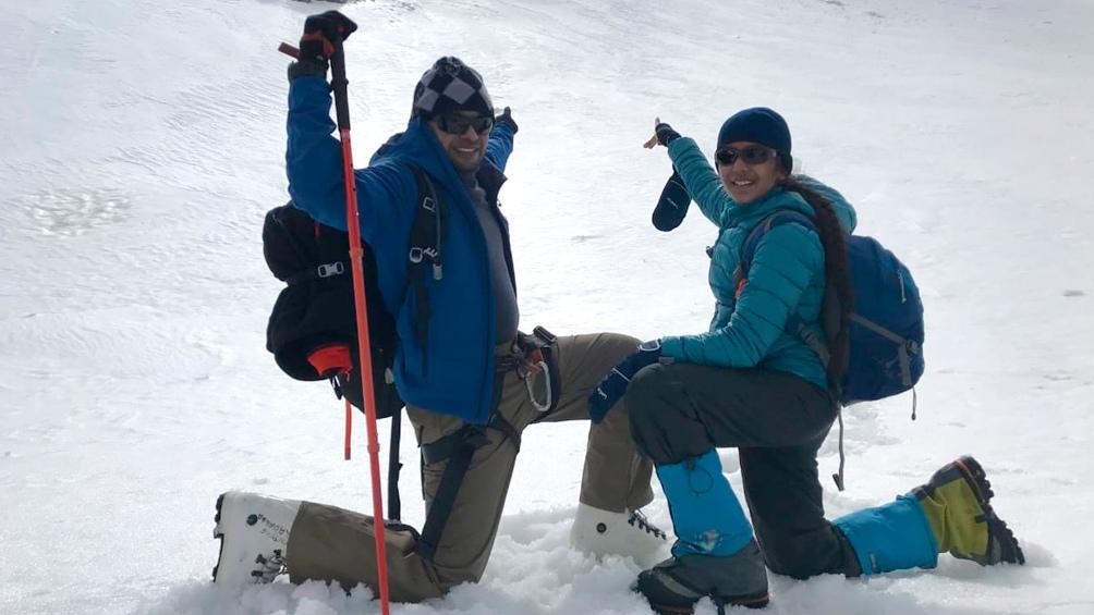 Su último logro fue el monte Mentok Kangri II en la India, de 6.262 metros de altura.
