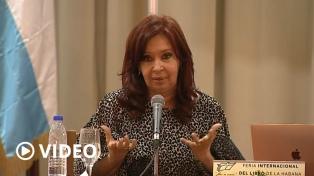 """Cristina Fernández propuso un """"Nunca Más"""" para la deuda externa"""