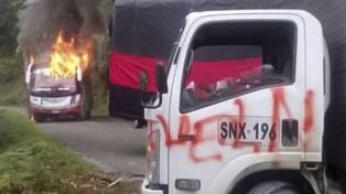 """Seis policías heridos en el primer día del """"paro armado"""" de la guerrilla"""