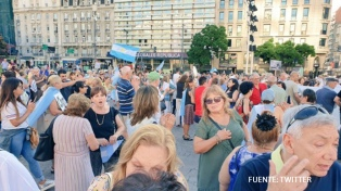 Protesta en Plaza de Mayo contra el aumento jubilatorio