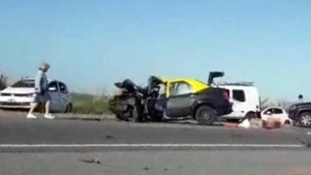 Choque múltiple en la ruta 11: un muerto y tres heridos