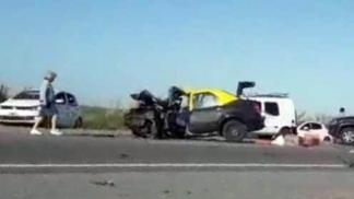 SAN CLEMENTE DEL TUYÚ: Choque múltiple en la ruta 11: un muerto y tres heridos