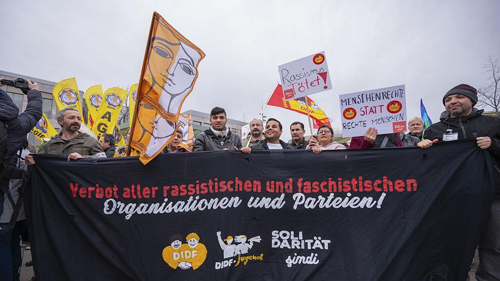 Marcha contra el odio y el racismo tras la masacre de Hanau