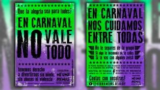 """""""En carnaval no vale todo"""": afiches y spots contra la violencia de género en Jujuy"""