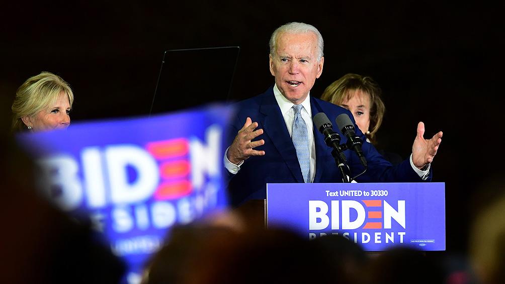 Biden gana primarias demócratas en cuatro estados y consolida su camino a la candidatura
