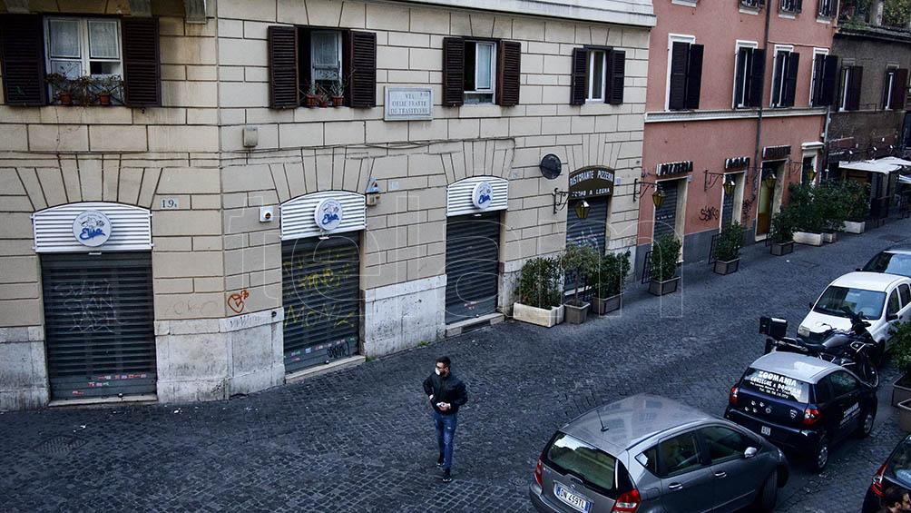 La cuarentena en Roma: iglesias cerradas y primeros faltantes en los supermercados