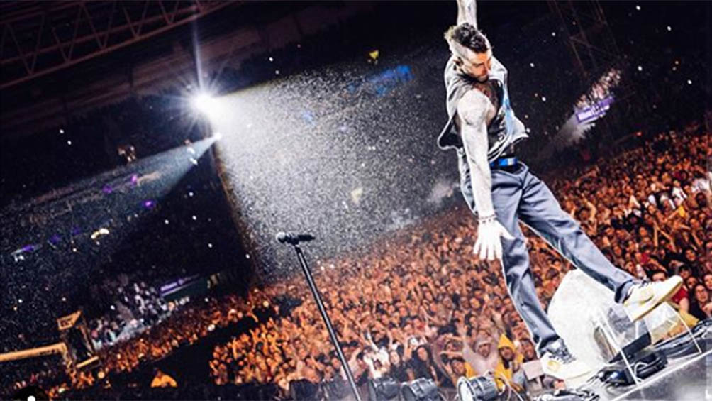 Suspendieron el recital que Maroon 5 daba esta noche