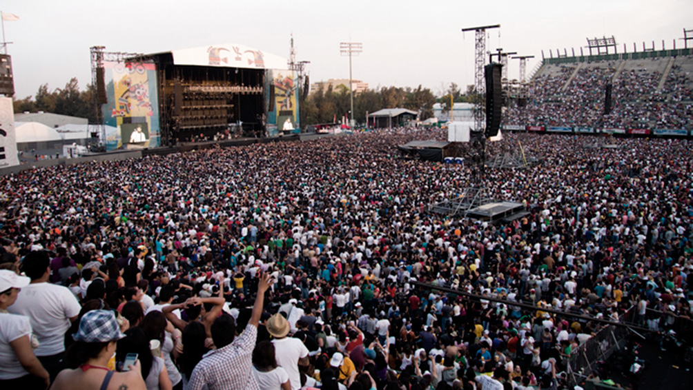 Pese al coronavirus, en México se reunieron unas 40 mil personas en un festival