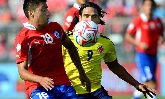 Colombia le gan� a Chile y alcanz� a la Argentina en la cima de las eliminatorias