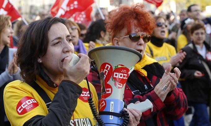 Los trabajadores europeos protagonizan una protesta continental contra el ajuste