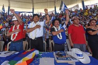 Cierran los actos en apoyo a la reelección de Morales a la espera del fallo de la Corte