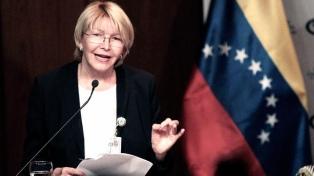 La ex fiscal general pidió la captura internacional de Maduro