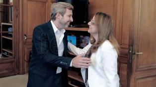 Alicia Kirchner se reunió con Frigerio por el último tramo de un préstamo de asistencia financiera