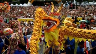 La colectividad china festeja la llegada del Año Nuevo en Belgrano