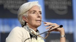"""Lagarde dijo que """"sin el FMI, la situación de la Argentina sería mucho peor"""""""