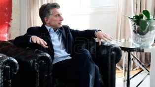 Macri vio el partido en la Casa de Gobierno