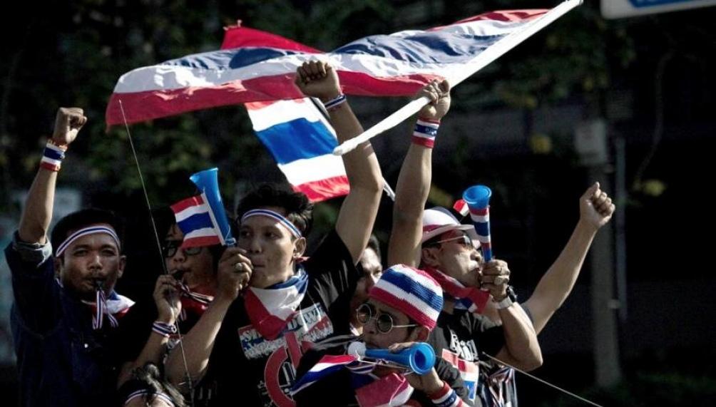 Protesta tailandesa pidiendo elecciones libres